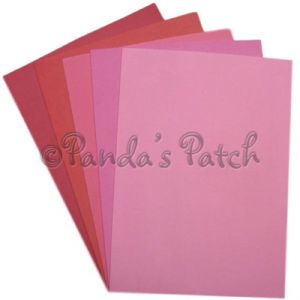 A4 EVA  Foam Sheet - Red and Pink Mix